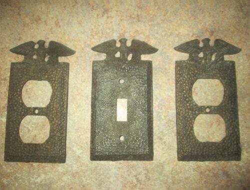 Vintage Edmar Eagle Brass Light Switch Plate & Outlet Plug Plates