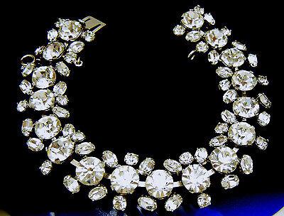 Gorgeous Vintage Crystal Rhinestone Bracelet Austria High Quality on Lookza