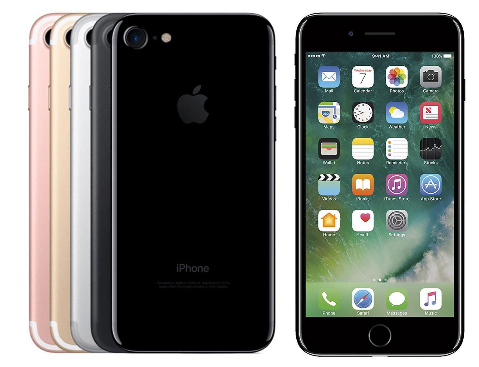Iphone - Apple iPhone 7 32GB 128GB 256GB A1778 GSM UNLOCKED Black Jet Gold Silver