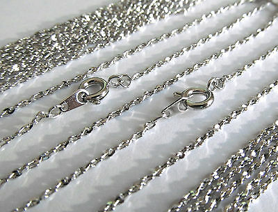 "Twisted Serpentine Rhodium Plate 18"" Chain 15 Pc Lot Wholesale Bulk Necklace USA"