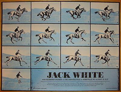 2012 Jack White - Asheville Silkscreen Concert Poster by Rob Jones S/N