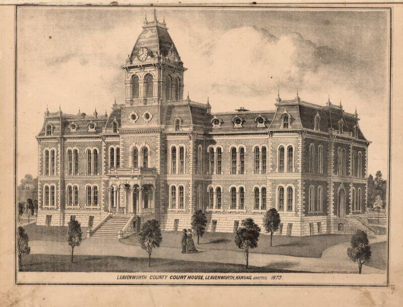 1878 LEAVENWORTH COUNTY maps KANSAS state old GENEALOGY LAND OWNERSHIP DVD P14
