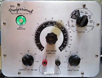 Nri Professional Model 311 Capacitor Tester