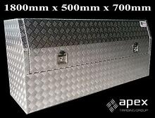 NEW APEX ALUMINIUM CHECKER PLATE TOOL BOX TOOLBOX FOR UTE 1857HR Chipping Norton Liverpool Area Preview