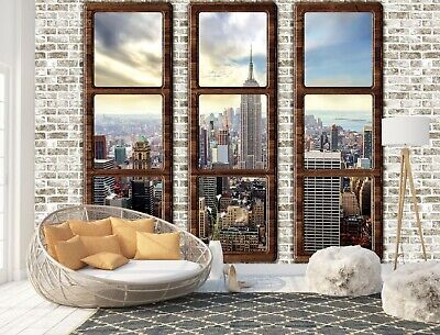 Wall Mural Photo Wallpaper Picture EASY-INSTALL Fleece New York Penthouse Window
