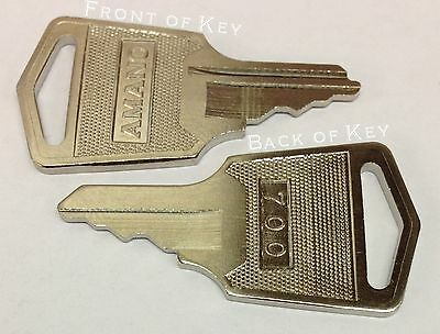 Amano Time Clock Key 700 C-459151 Set Of 2 Keys For Mjr And Many Tcx And Pix