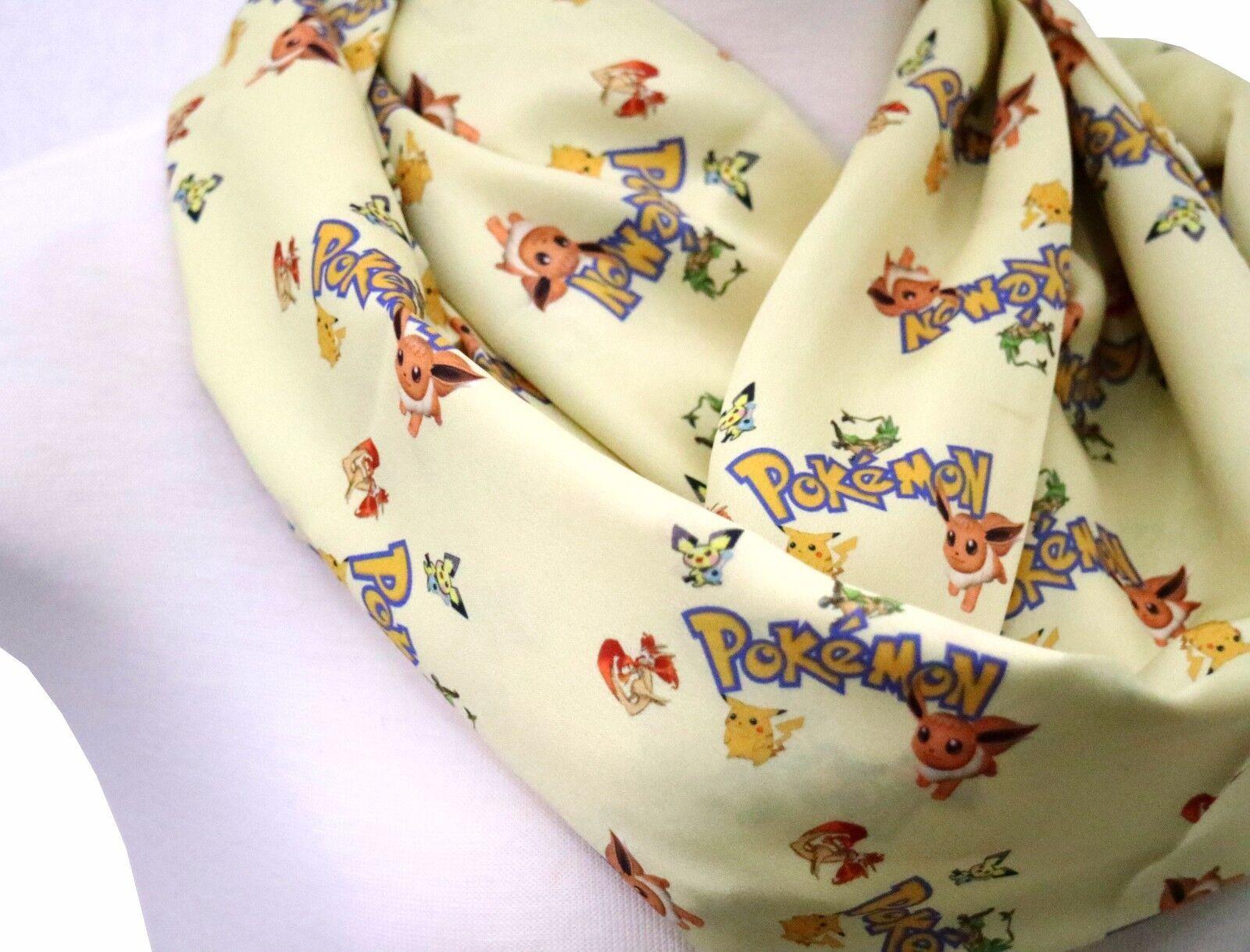 Handmade Pokemon scarf perfect gift for Pokemon go fan gift