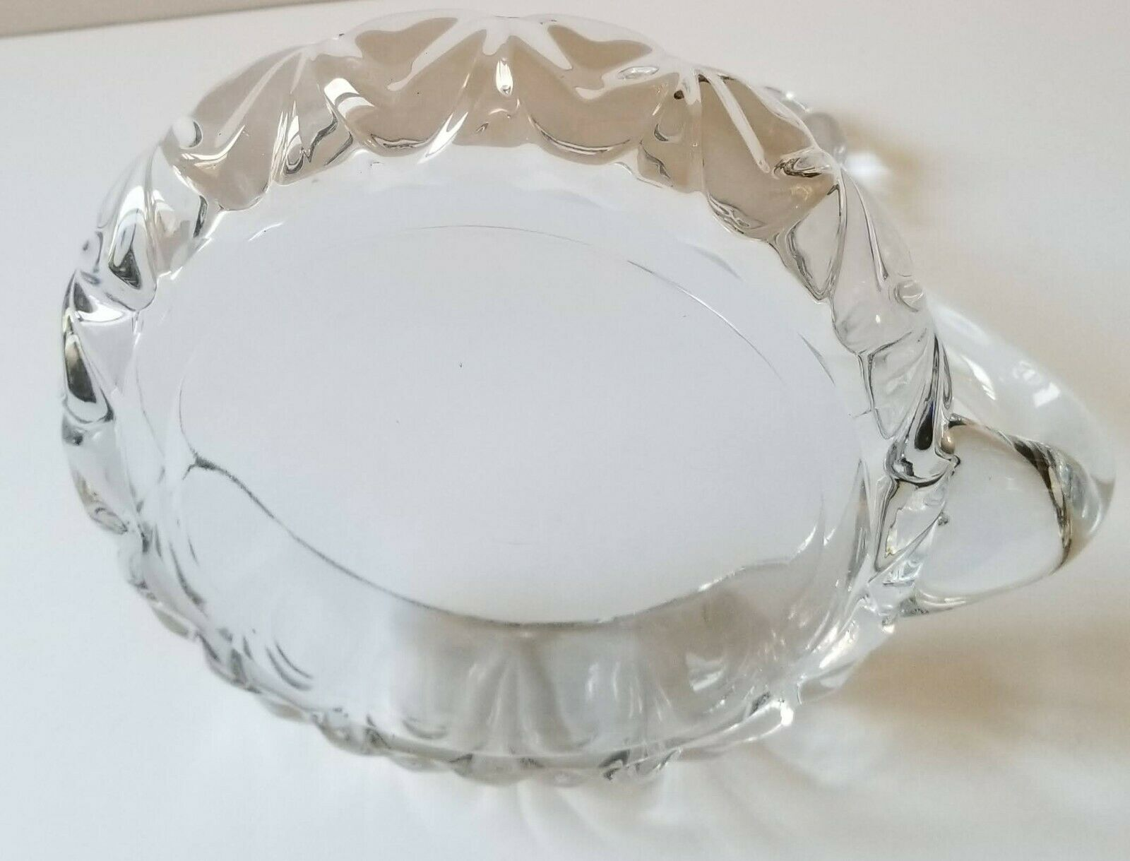 Vintage Clear Crystal Glass Elegant Swan Trinket Candy Dish 5 Wide 6.5 Tall - $9.80