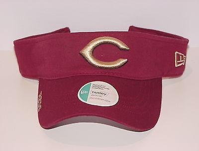 Vintage MLB Cincinnati REDS New Era VISOR Adjustable Cotton SEWN Logos NWT