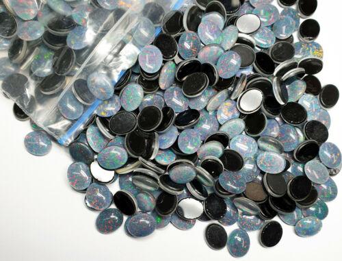 80 Australian 10x8 mm Oval Cut Opal Triplets Made in Australia from Natural Opal