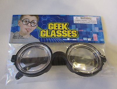 1 NEW KIDS BLACK NERD GLASSES THICK LENS GEEK SHADES COSTUME COKE BOTTLE FRAMES](Kids Nerd Costumes)