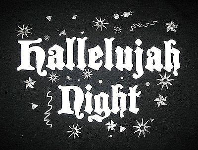 HALLELUJAH NIGHT Security T-Shirt, Men's Size 3XL, Christian Alt Halloween NEW
