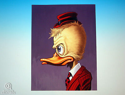 Howard The Duck Mondo Mike Mitchell Portrait Print Marvel Rare Giclee Proof