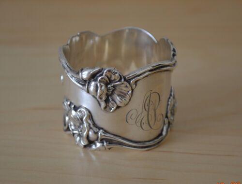 Shreve & Co. Sterling Silver Art Nouveau Floral Napkin Ring