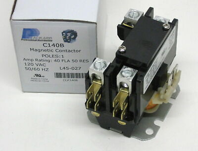 C140b Contactor Single One 1 Pole 40 Amps 120 Volts Ac Air Conditioner New