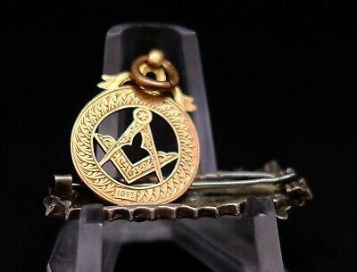 Masonic Gold Watch Fob marked 15ct