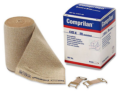 Comprilan Short Stretch Compression Bandage (Comprilan Short Stretch Bandage Compression Wrap: 8cm x 5m - Each (1 Roll) )