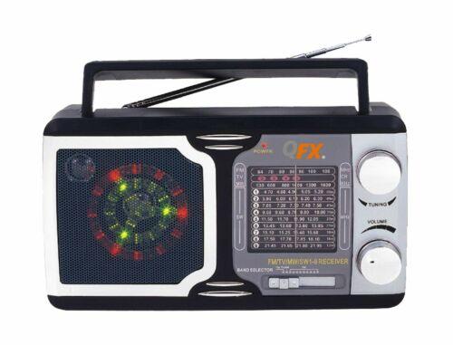 QFX R-14: Retro Collection AM/FM/SW 1-9 Radio
