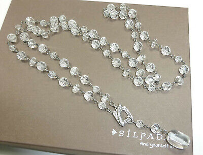 Silpada Sterling Silver Glass Bead Long Toggle Necklace N1503 .925 (Nugget Pearl Long Necklace)