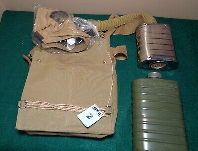 BRITISH WWI  SBR GAS MASK WITH BAG+NEW  FILTER