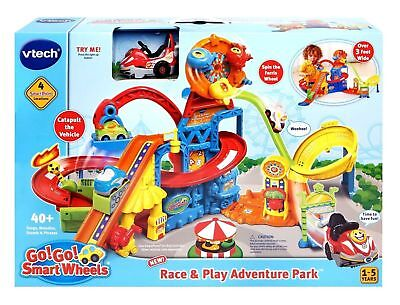 VTech Go! Go! Smart Wheels Race and Play Adventure Park Playset NEW IN BOX (Adventure Smart Box)