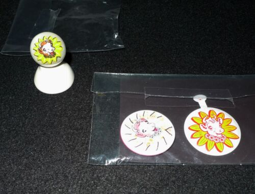 Vintage Borden  Elsie the Cow collectibles Magnets, Pin and Marble w/ base