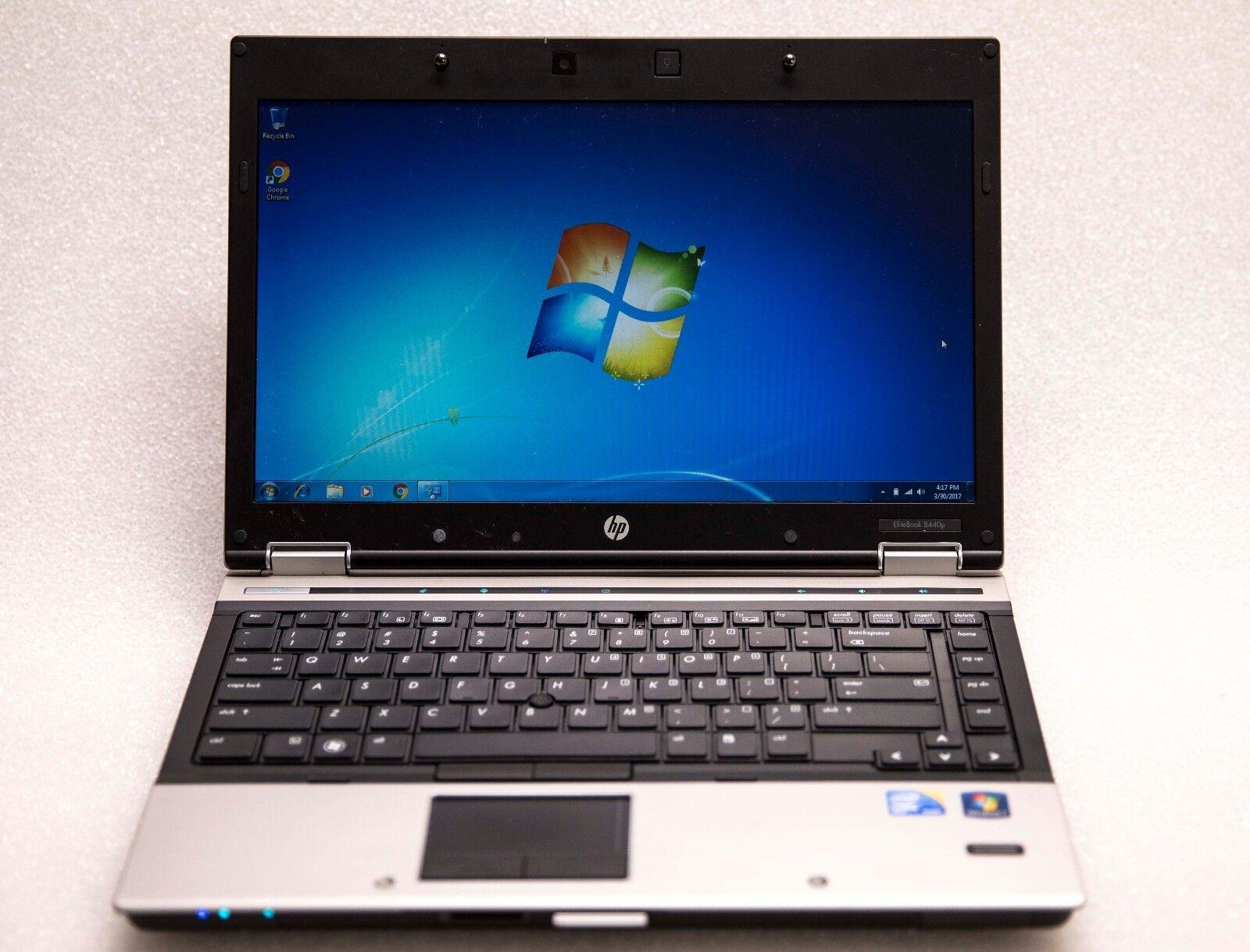"""HP EliteBook 8440p 14"""" Core i5 2.4GHz 4GB 160GB Webcam Wireless Win 7 Pro Laptop"""