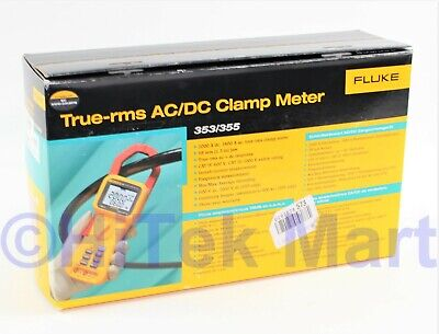 Fluke 355 True Rms Clamp-meter 2000a Acdcvoltage New In Box