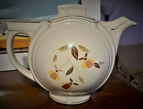 HALL Autumn Leaf Basketball Teapot