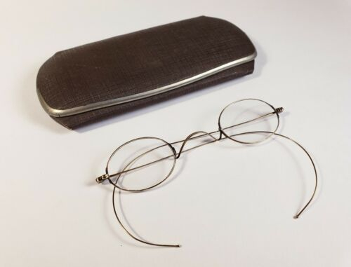 10K antique eyeglasses.  Marked and tested.  Solid gold spectacles.