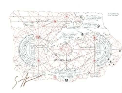 Sean Astin Signed Autographed 8.5x11 THE GOONIES One-Eyed Willy's Map COA