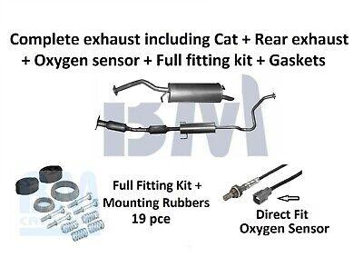 BM Catalytic Converter + Complete exhaust + Oxygen Sensor+ Fitting Kit for Prius