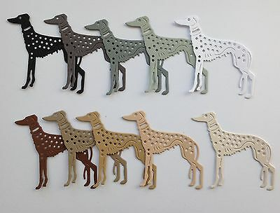 NEW - Stunning Tattered Lace Art Deco Dog (sight Hound) Die-Cuts (Doggie colours