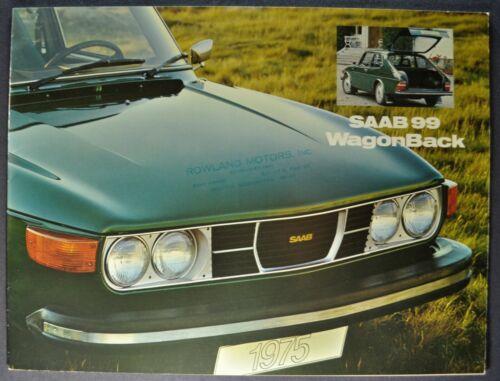 1975 Saab Catalog Sales Brochure 99 WagonBack GL Excellent Original 75