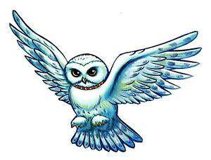 11 harry potter owl headwig wall sticker glossy border character cut