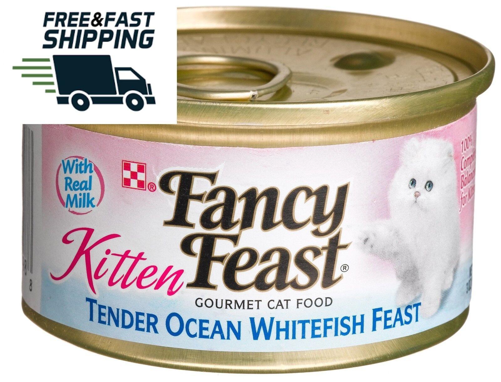 Fancy Feast Tender Ocean Whitefish Feast Gourmet Canned Kitt