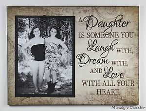WOOD CLIP FRAME MOTHER DAUGHTER 5 X 7 PICTURE FRAME PHOTO SIGN HOME DECOR 1056
