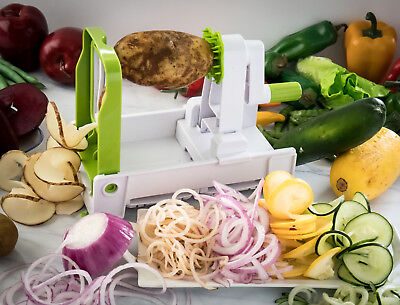 Spiral Fruit & Vegetable Slicer Cutter 5-blade Multi