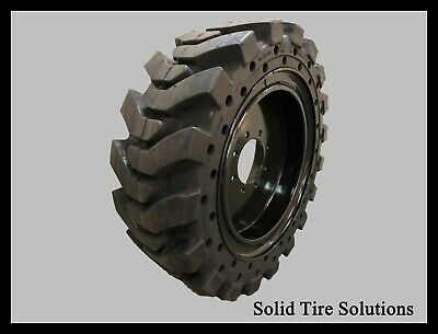 Solid Skid Steer Tires Set Of 4 With Rims12x16.5 33x12x20 Free Shipping