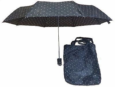 Fashion Polka Dot Tote - Fashion Polka Dot Black and White Umbrella w/Tote
