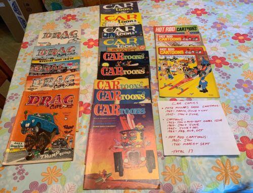 17 Vintage Automotive Cartoon Comics Dragtoons CARtoons Hot Rod Cartoons