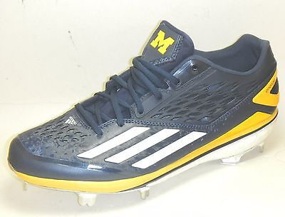 88a2207ddb2 University of Michigan Wolverines Team Issued Adidas Boost Baseball Cleats  Sz 10