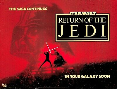 "RETURN OF THE JEDI Advance quad poster rare 30x40"" Star Wars - FREE P&P"
