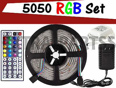 PATIO STRING LIGHT LED STRIP KIT 16FT - RGB 5050 SMD IR Remote Power Waterproof