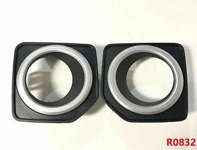 Pair of fog lamp bezels for Land Rover Freelander 2 2012 facelift front bumper