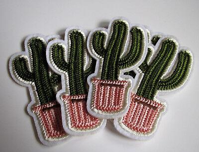 5 x Kaktus - Kakteen - Bügelbilder - Patches - Aufbügler - Applikationen
