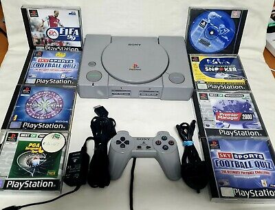 Playstation 1 (PS1) SCPH 1002 Audiophile UK PAL Games Bundle Retro - Tested!