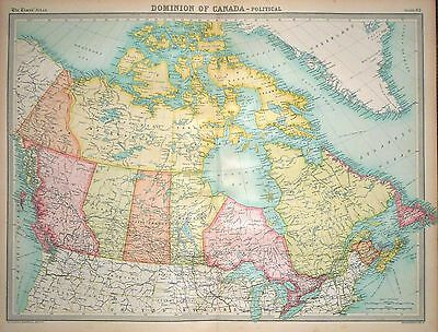 1920 LARGE MAP ~ DOMINION OF CANADA ~ POLITICAL ~ 23