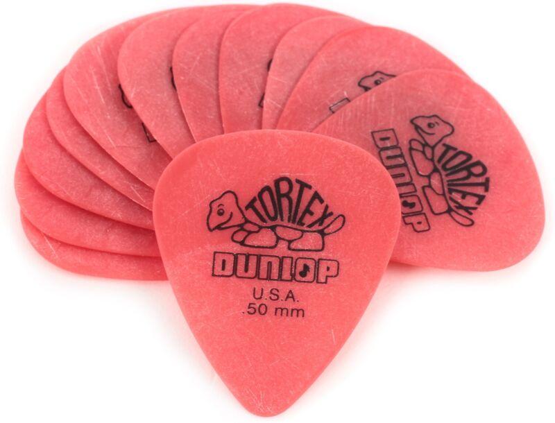 Dunlop 418P.50 Tortex Standard .50mm Red Guitar Pi
