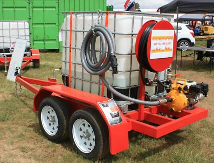 Fire Fighting Trailer Unit 1000 LTR with Honda Davey pump